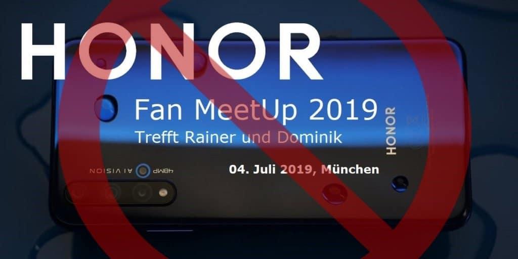 HONOR Fan Meetup Absage