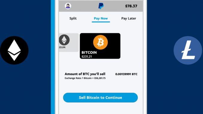 PayPal Kryptowährungen